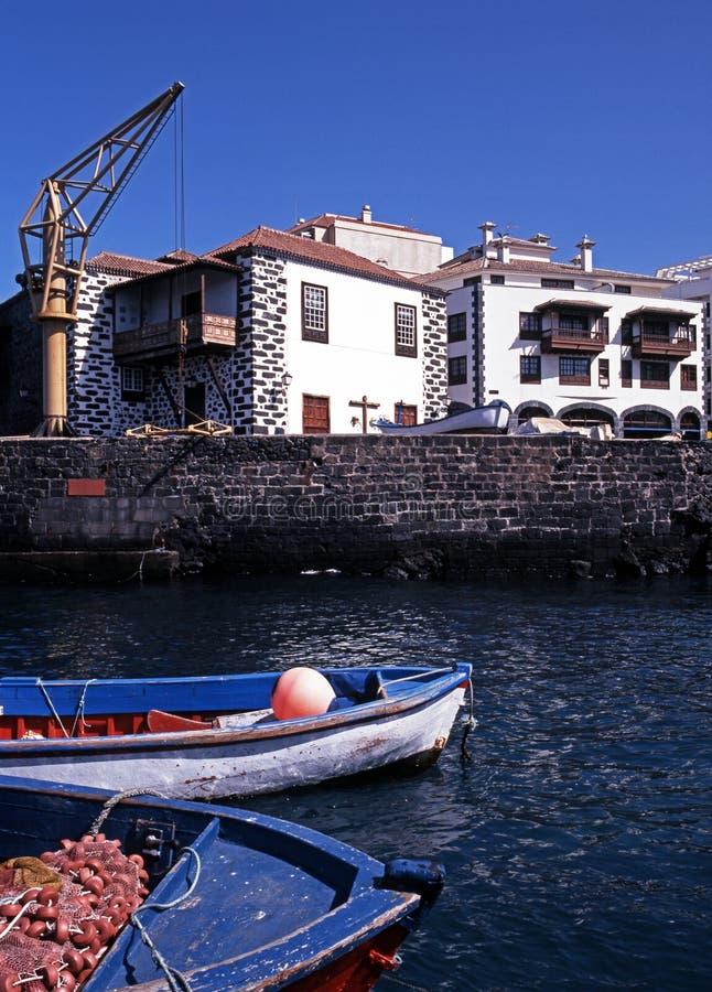 Haven, Puerto DE La Cruz, Tenerife. royalty-vrije stock afbeelding