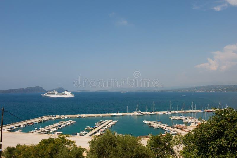 Haven Pylos in Griekenland stock foto