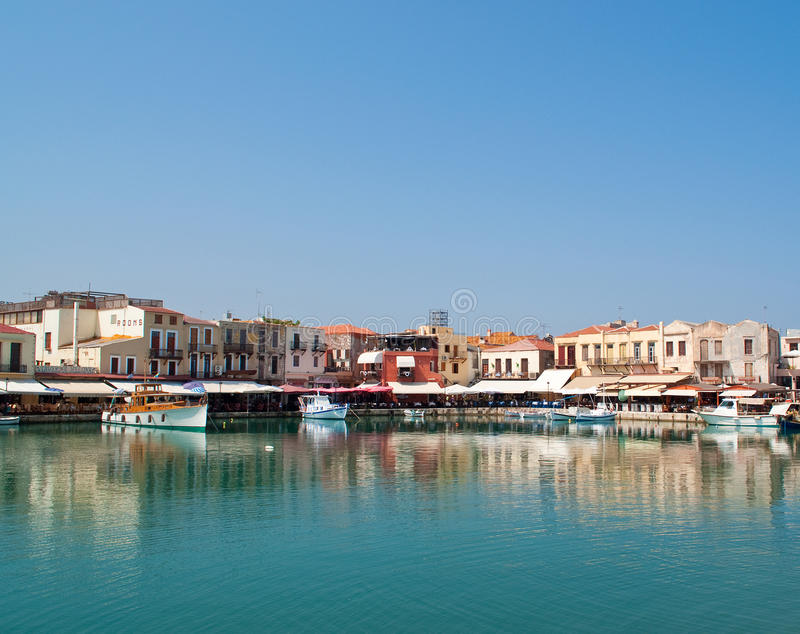 Haven in Rethymnon royalty-vrije stock foto's