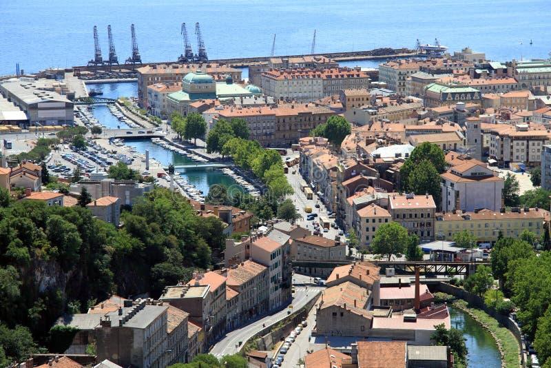 Haven Rijeka royalty-vrije stock foto
