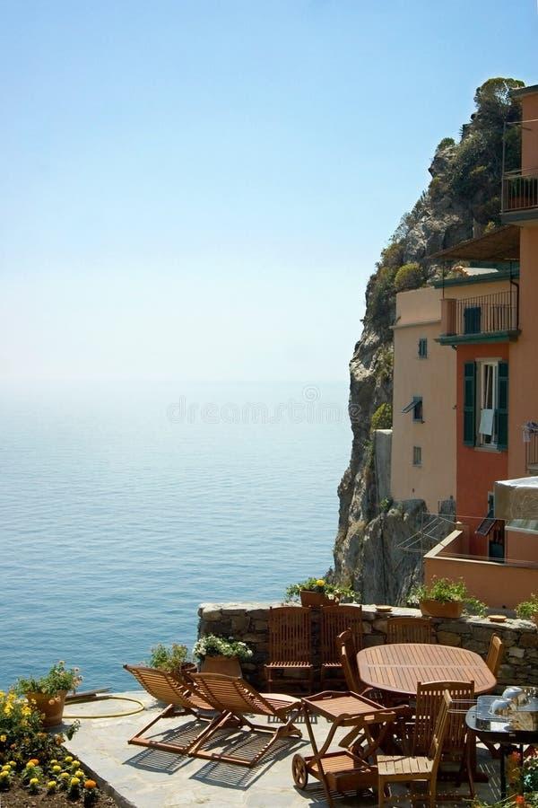 Haven in Riomaggiore stock fotografie