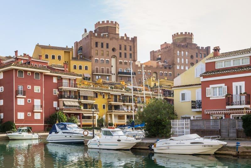 Haven Saplaya, Alboraya, Valencia, Spanje stock afbeeldingen