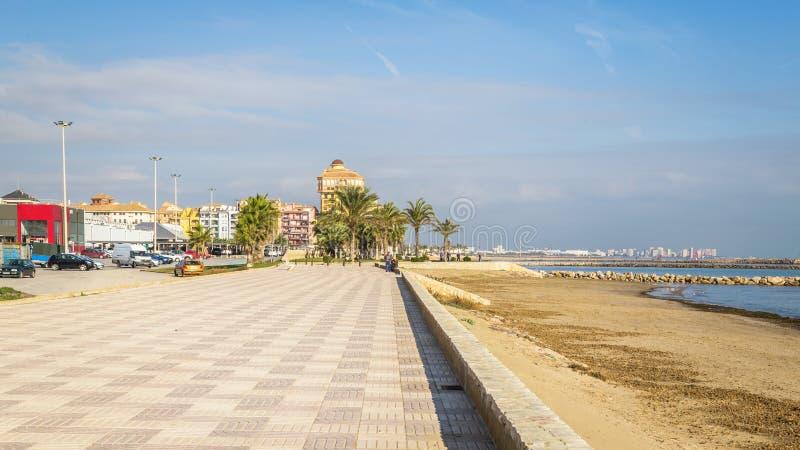 Haven Saplaya, Alboraya, Valencia, Spanje Haven Sa Platja stock afbeeldingen