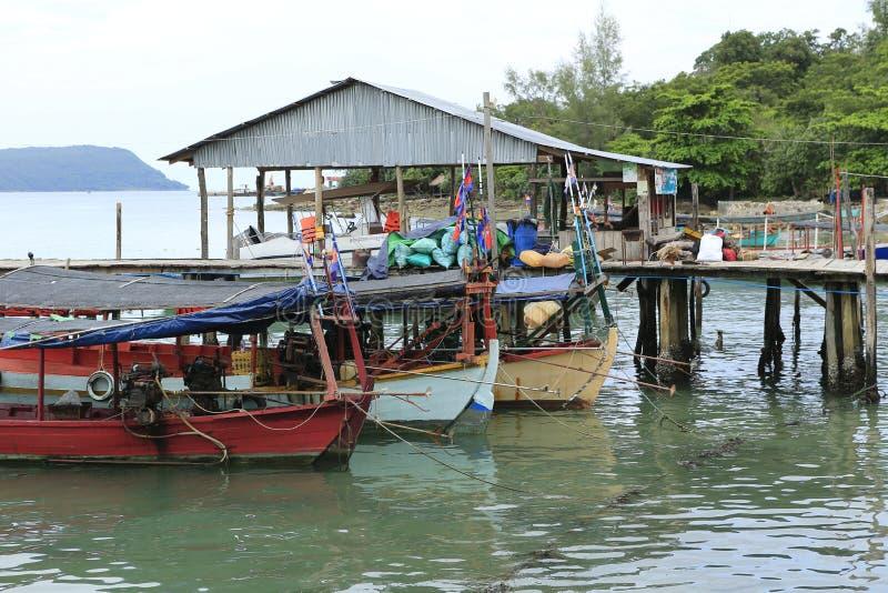 Haven in Sihanoukville in Kambodja stock foto