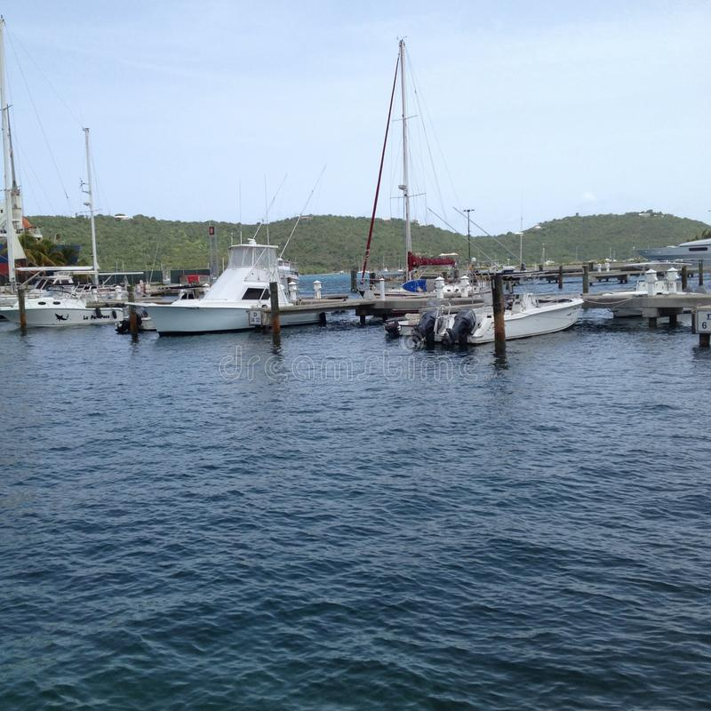 Haven in St Thomas stock afbeelding