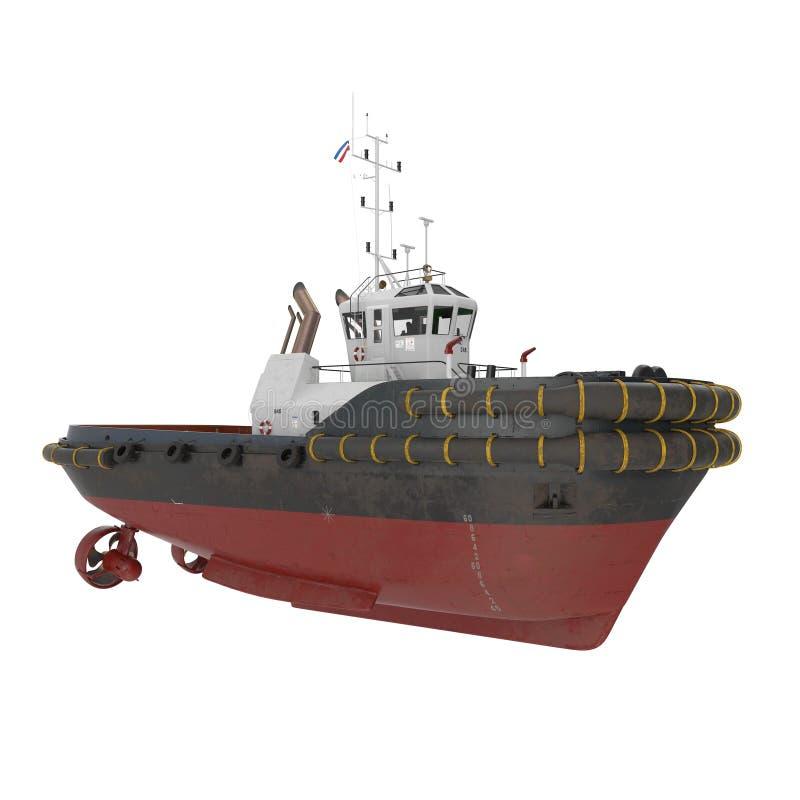 Haven Tug Boat op wit 3D Illustratie vector illustratie