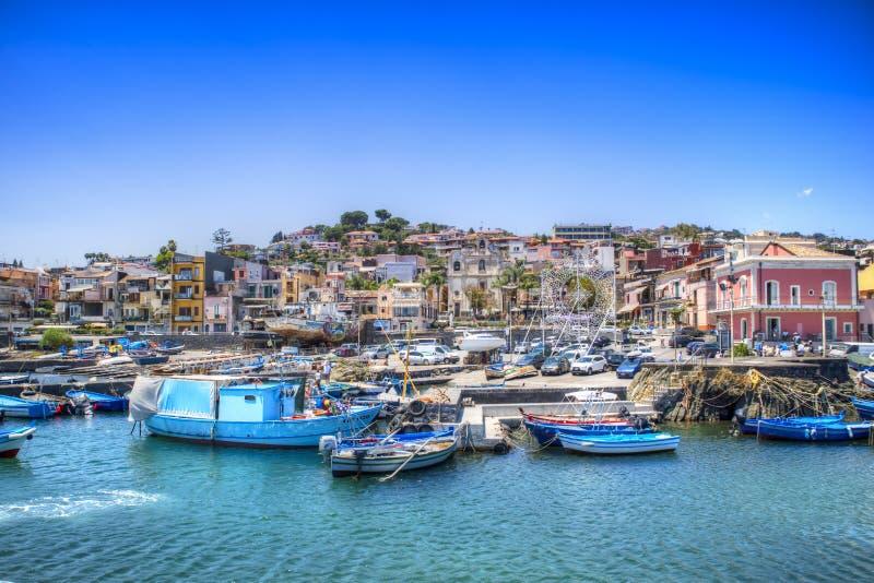 Haven van Aci Trezza stock fotografie