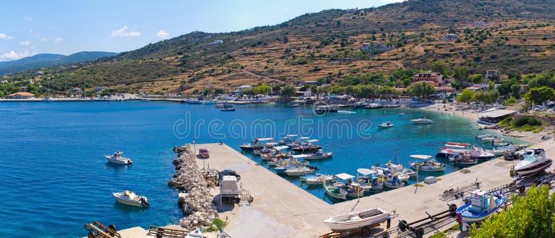Haven van Agios Nikolaos, Zakynthos, Griekenland royalty-vrije stock fotografie