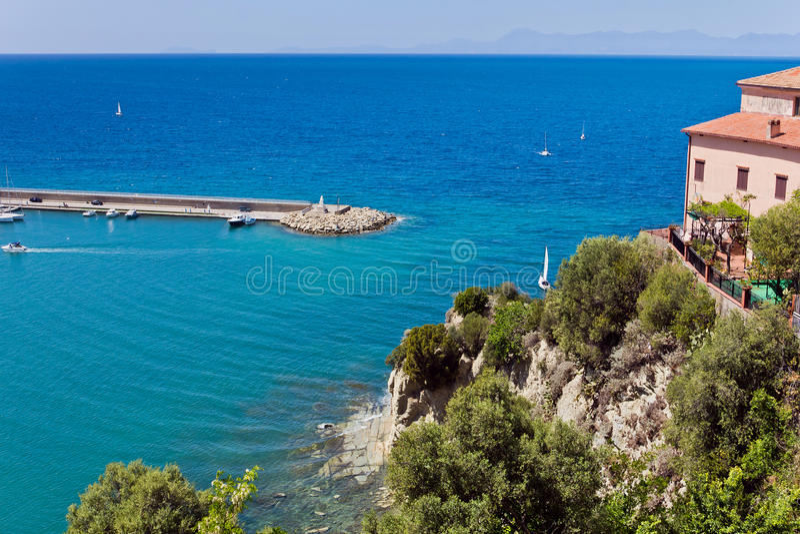 Haven van Agropoli, Salerno royalty-vrije stock afbeeldingen