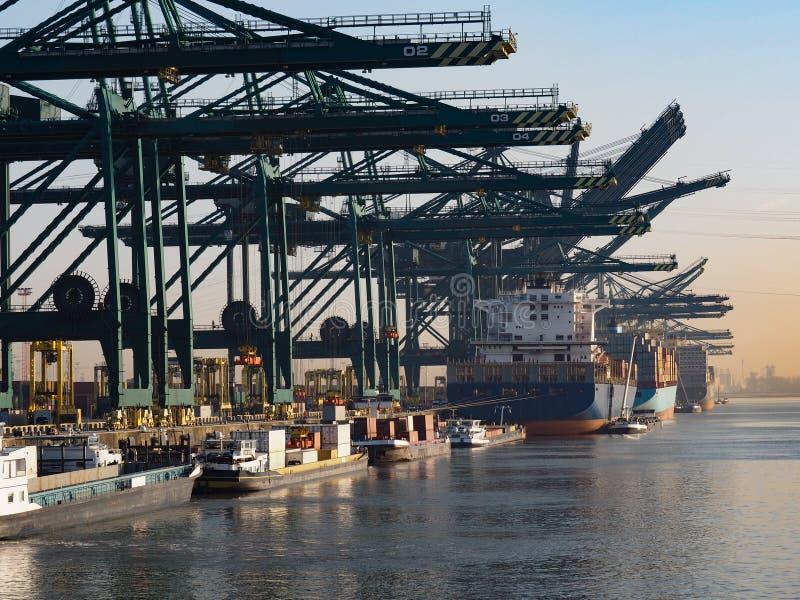 Haven van Antwerpen royalty-vrije stock afbeeldingen