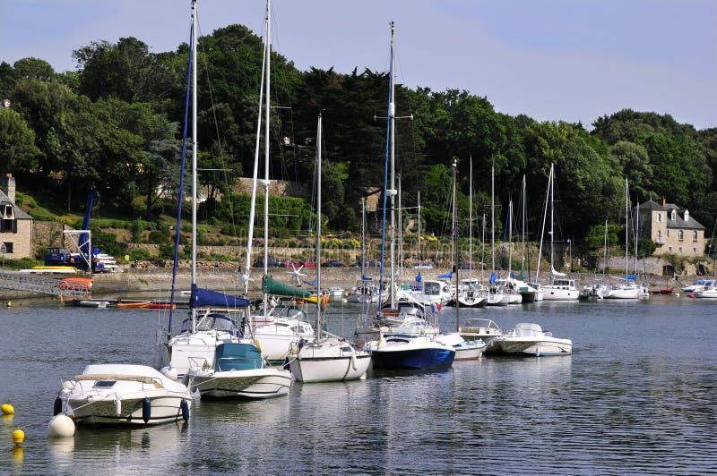 Haven van Auray in Frankrijk stock fotografie