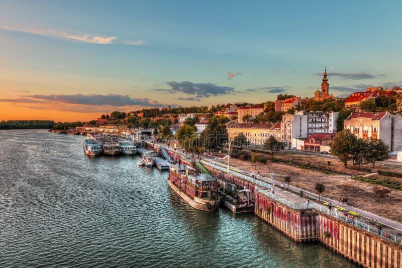 Haven van Belgrado royalty-vrije stock afbeeldingen