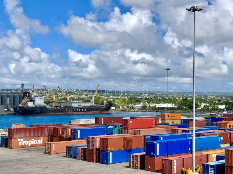 Haven van Bridgetown, Barbados stock afbeeldingen