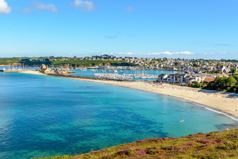 Haven van Camaret sur Mer in Bretagne royalty-vrije stock foto