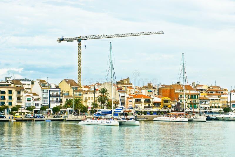 haven van Cambrils, Costa Dorada, Spanje royalty-vrije stock foto