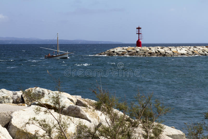 Haven van Carloforte stock foto