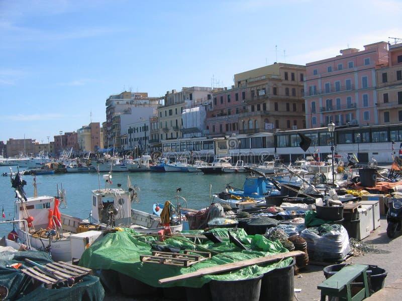 Haven van de stad van Anzio in Italië royalty-vrije stock foto's