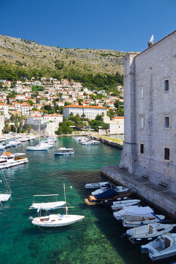 Haven van Dubrovnik stock afbeeldingen