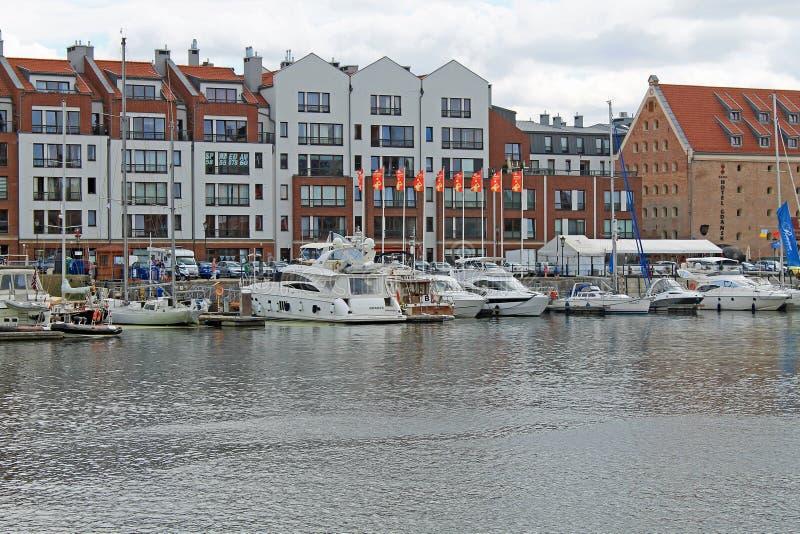 Haven van Gdansk stock afbeeldingen