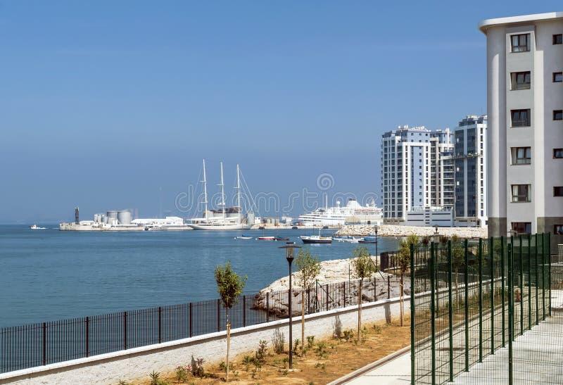 Haven van Gibraltar royalty-vrije stock afbeelding