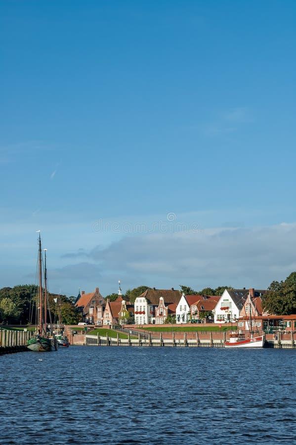 Haven van Greetsiel, Duitsland stock foto's