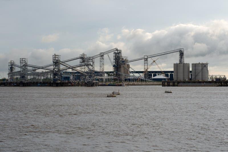 Haven van Groter Baton Rouge, door de rivier van de Mississippi stock fotografie