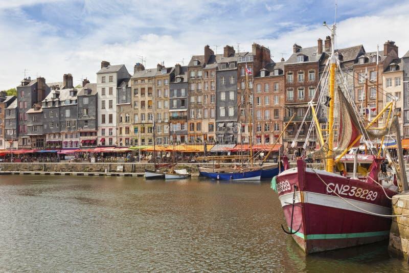 Haven van Honfleur, Normandië, Frankrijk royalty-vrije stock afbeeldingen
