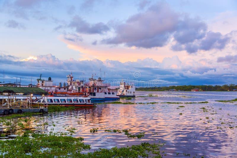 Haven van Iquitos, Peru stock afbeeldingen