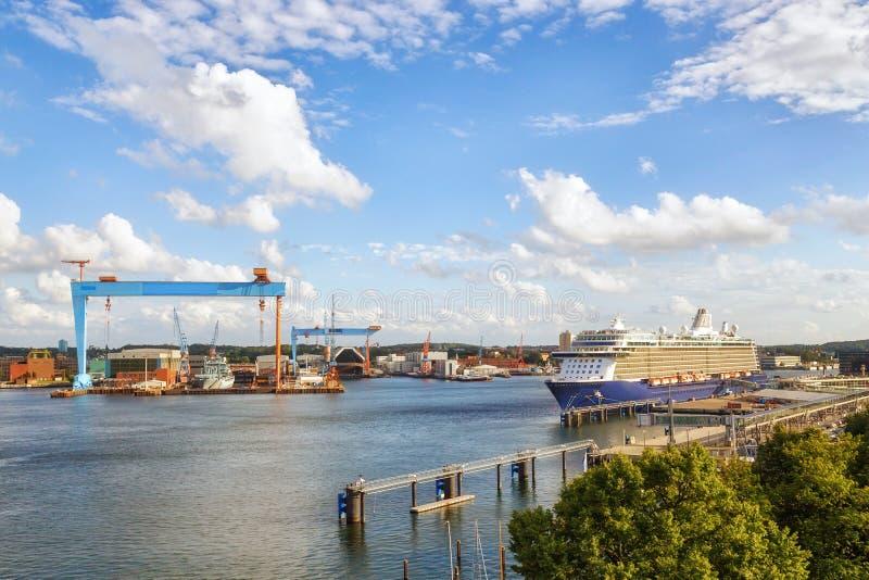 Haven van Kiel, Duitsland stock foto