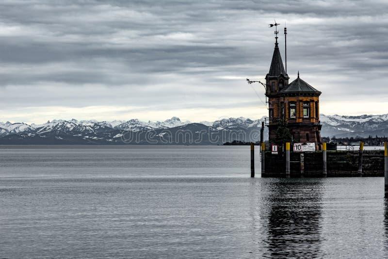 Haven van Konstanz in het Meer van Konstanz royalty-vrije stock foto's