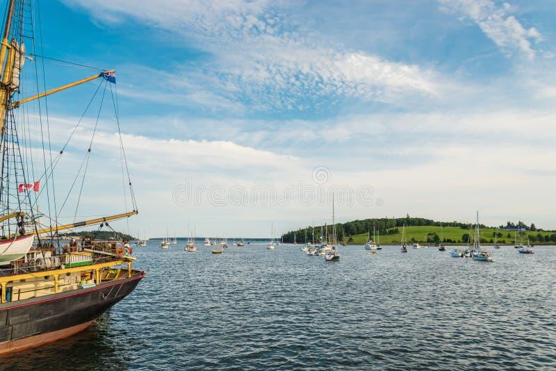 Haven van Lunenburg tijdens Lang Schipfestival 2017 royalty-vrije stock fotografie