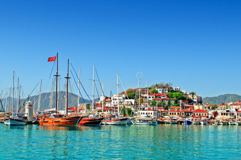 Haven van Marmaris stock foto