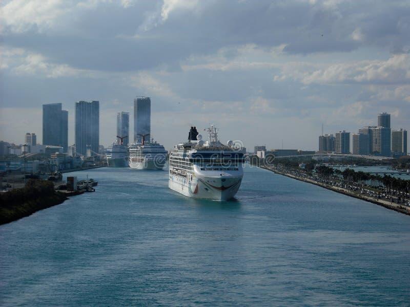 Haven van Miami stock afbeeldingen