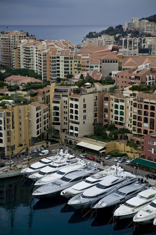 Haven van Monte Carlo stock foto's