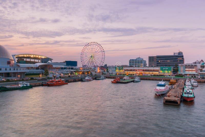 Haven van Nagoya, in Ise Bay wordt de gevestigd, is grootste en bezigste t dat royalty-vrije stock fotografie