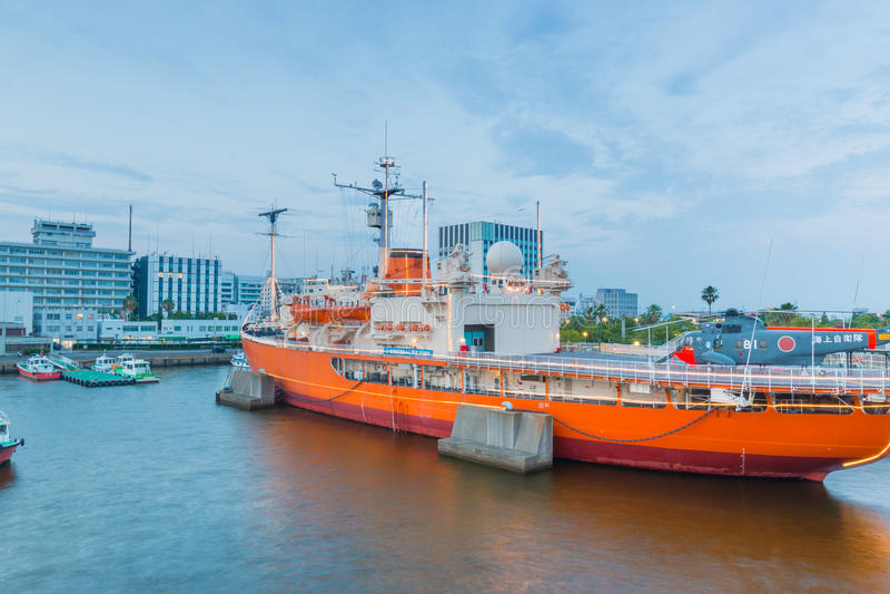 Haven van Nagoya, in Ise Bay wordt de gevestigd, is grootste en bezigste t dat stock afbeelding