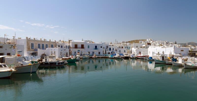 Haven van Naoussa, Paros eiland, Griekenland stock afbeelding