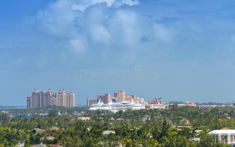 Haven van Nassau, de Bahamas stock foto