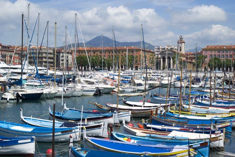 Haven van Nice, Franse Riviera stock afbeelding
