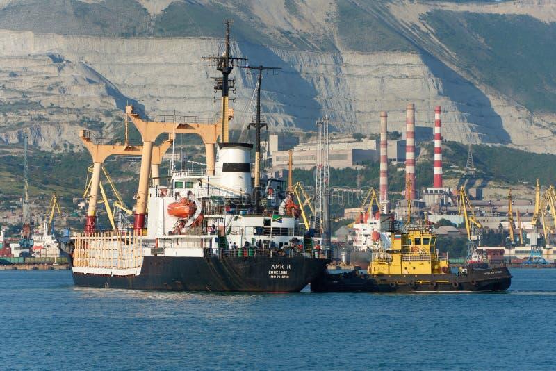 Haven van Novorossiysk de Zwarte Zee stock afbeelding