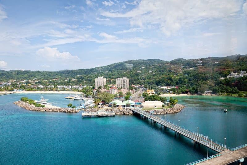 Haven van Ocho Rios, Jamaïca stock afbeelding