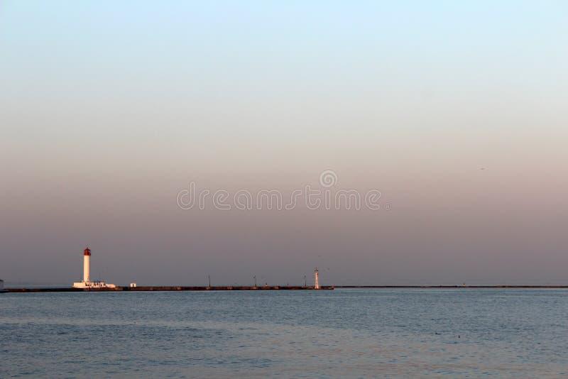 Haven van Odessa, de Oekraïne stock foto