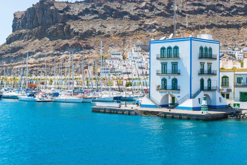 Haven van Puerto DE Mogan royalty-vrije stock foto