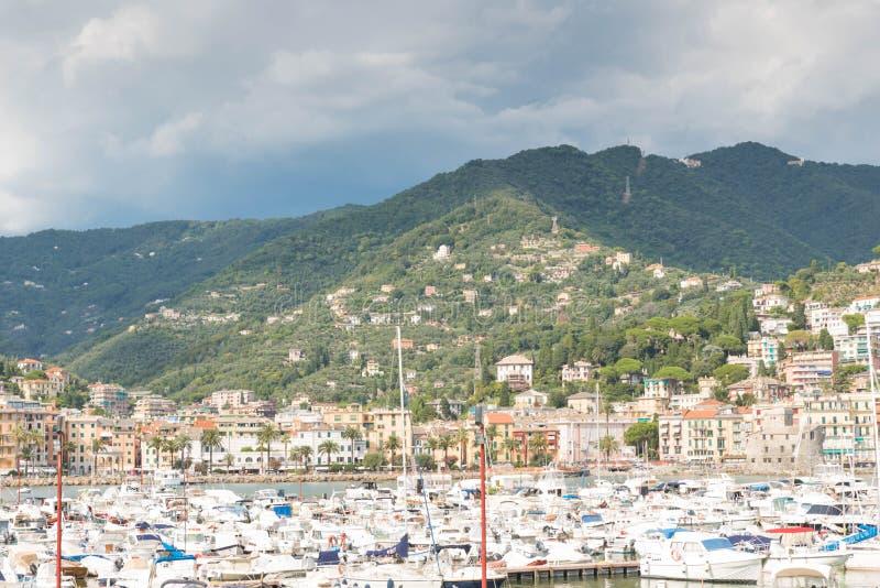 Haven van Rapallo, Italië royalty-vrije stock foto's
