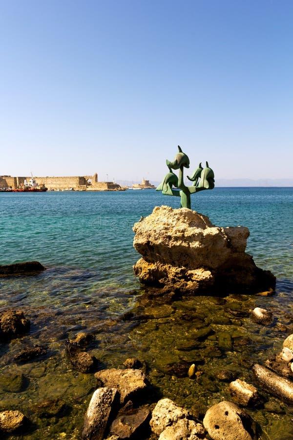 Haven van Rhodos royalty-vrije stock afbeeldingen