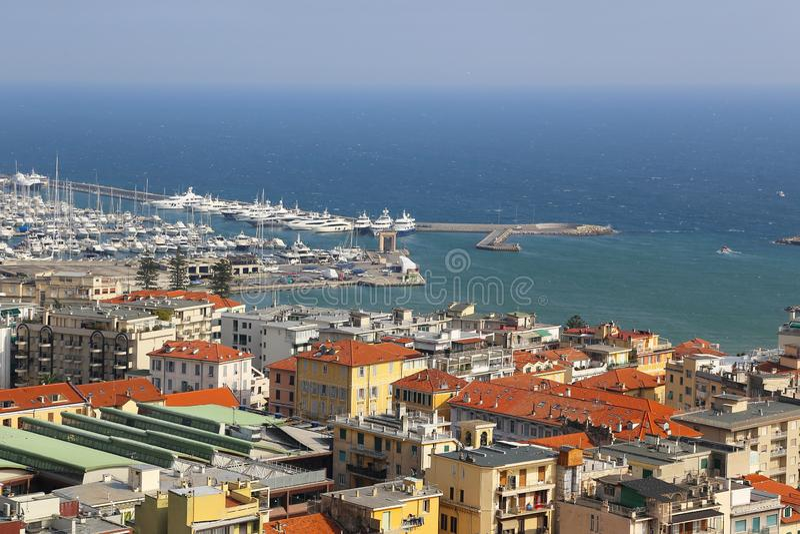Haven van Sanremo San Remo op Italiaanse Riviera, Imperia, Ligurië, Italië stock foto