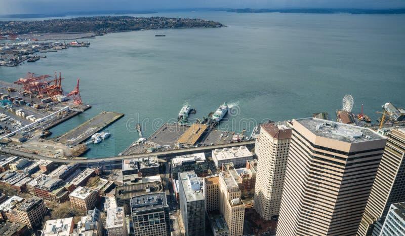 Haven van Seattle royalty-vrije stock afbeeldingen