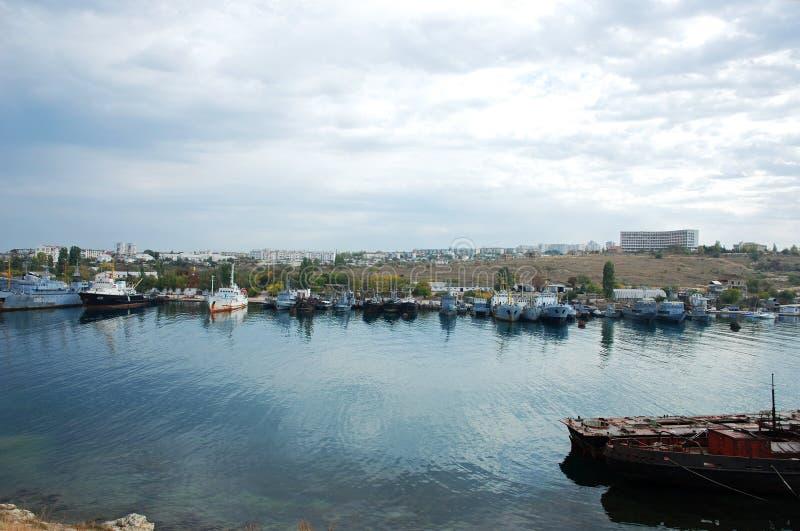 Haven van Sebastopol, de Oekraïne. stock fotografie