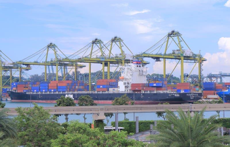 Haven van Singapore stock afbeeldingen