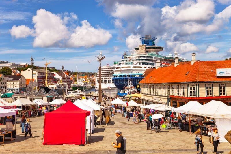 Haven van Stavanger stock fotografie